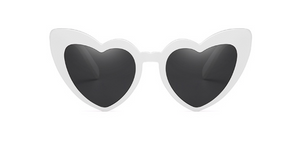 MAMA HEART SUNGLASSES - WHITE | SOLD OUT