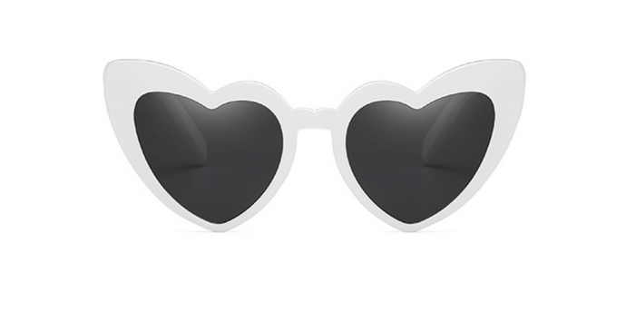 MAMA HEART SUNGLASSES - WHITE