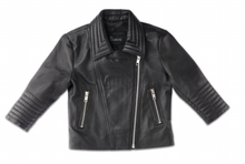 Load image into Gallery viewer, MINI LEATHER BIKER JACKET
