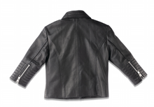 Load image into Gallery viewer, MINI LEATHER BIKER JACKET (MADE TO ORDER)