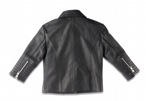 MINI LEATHER BIKER JACKET (MADE TO ORDER)