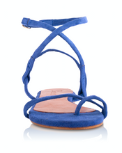 Load image into Gallery viewer, MONICA SANDALS - ELECTRIC BLUE