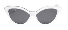 Load image into Gallery viewer, WHITE CAT EYE SUNGLASSES - PRE ORDER