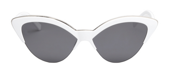 WHITE CAT EYE SUNGLASSES - PRE ORDER