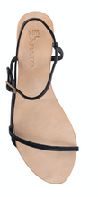 Load image into Gallery viewer, ROSE SANDALS - BLACK WITH NUDE BASE