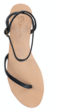 Load image into Gallery viewer, LETI SANDALS - BLACK WITH NUDE BASE