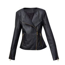 Load image into Gallery viewer, #2 BLACK LEATHER JACKET WITH GOLD ZIPS (CUSTOM MADE)