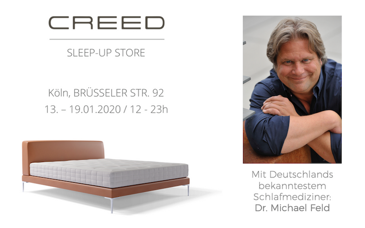 CREED Sleep-Up Store zur IMM im Belgischen Viertel (13.01. - 19.01.)