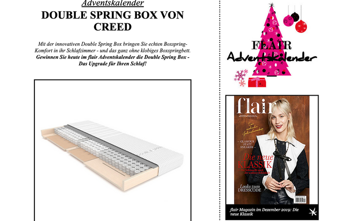 Die DOUBLE SPRING BOX bei flair - fashion & home magazin