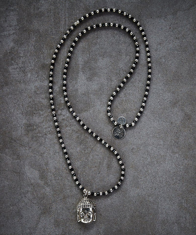 Buddha Spinnel and Silver Necklace - Zen Sisters