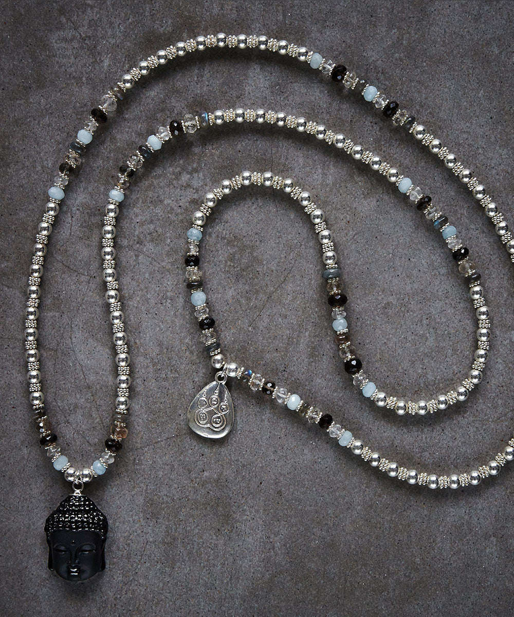Buddha Onyx Necklace - Zen Sisters