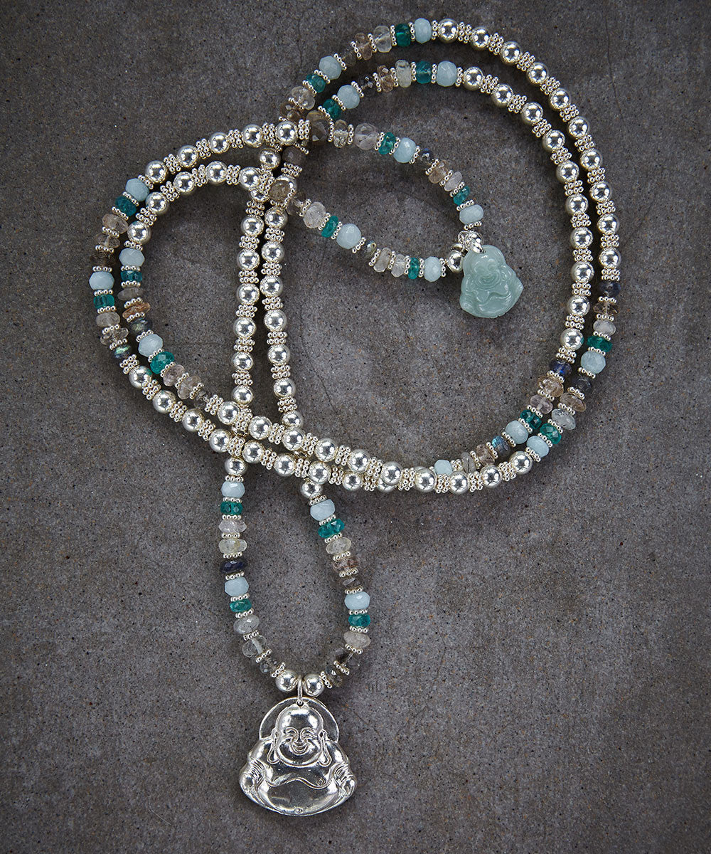 Happy Buddha Jade Necklace - Zen Sisters