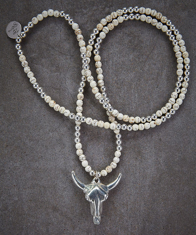 Buffalo Head Parched Necklace - Zen Sisters