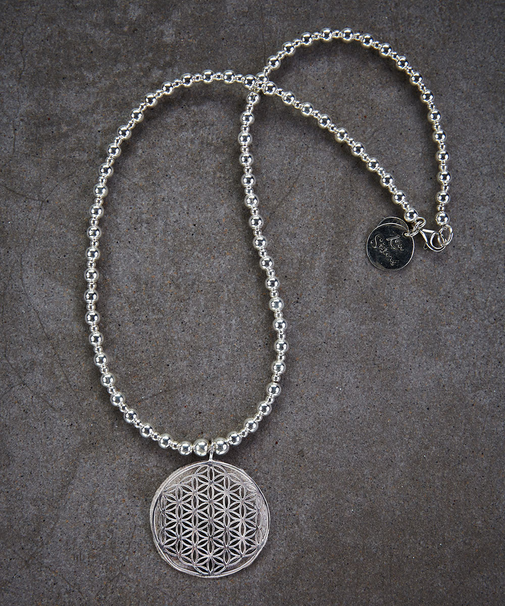 Flower of Life Mandala Necklace - Zen Sisters