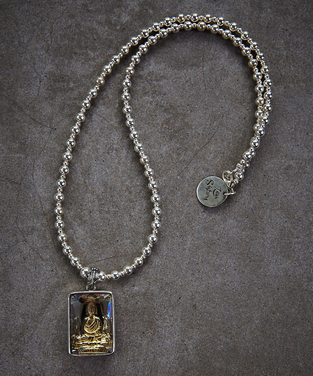 Golden Buddha Amulet Necklace - Zen Sisters