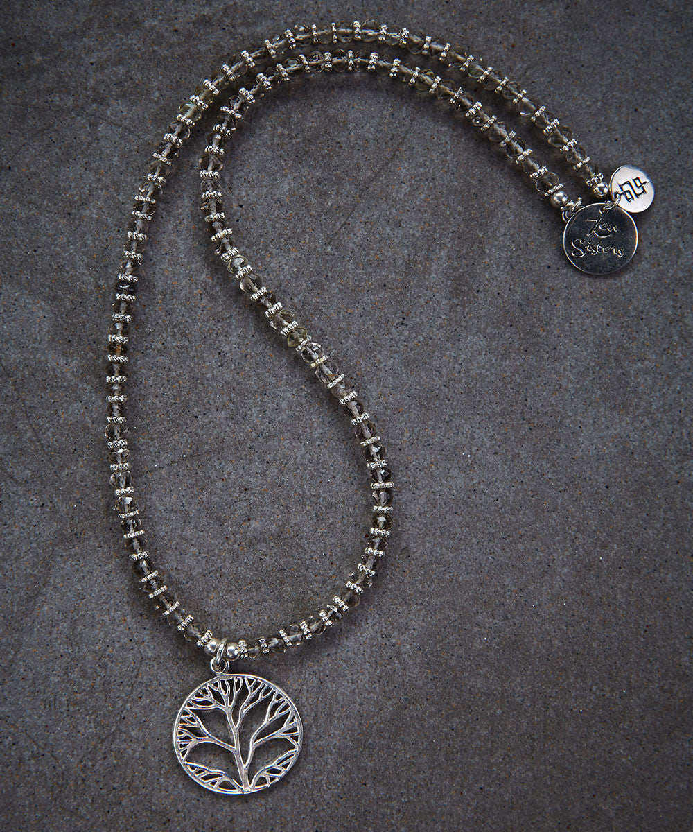 Labradorite Tree of Life Necklace - Zen Sisters