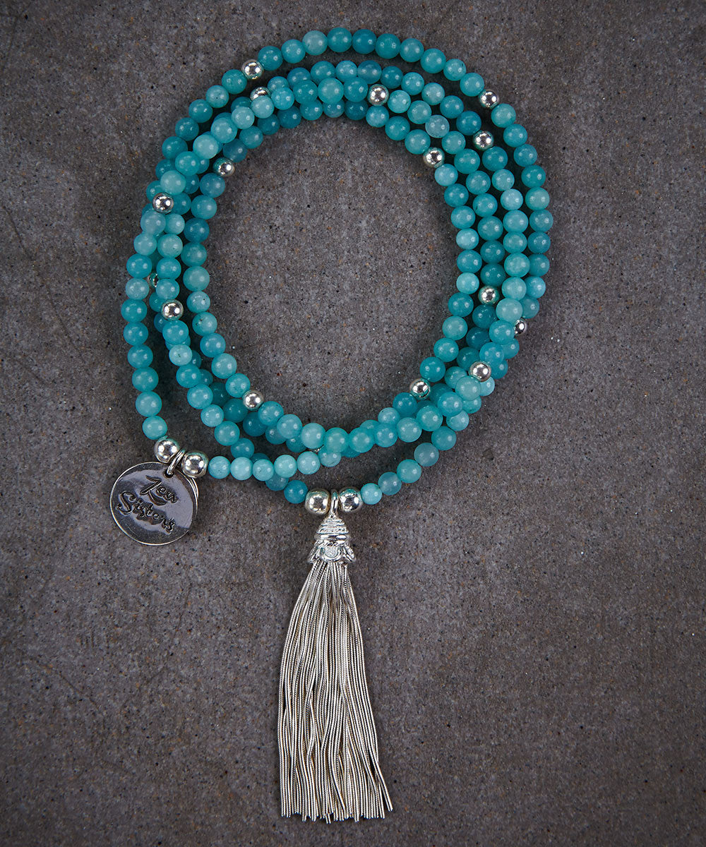 Amazonite Tassel Necklace - Zen Sisters