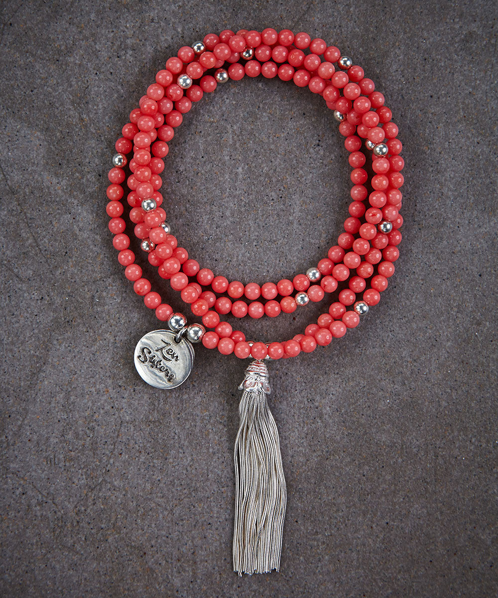 Coral Tassel Necklace - Zen Sisters