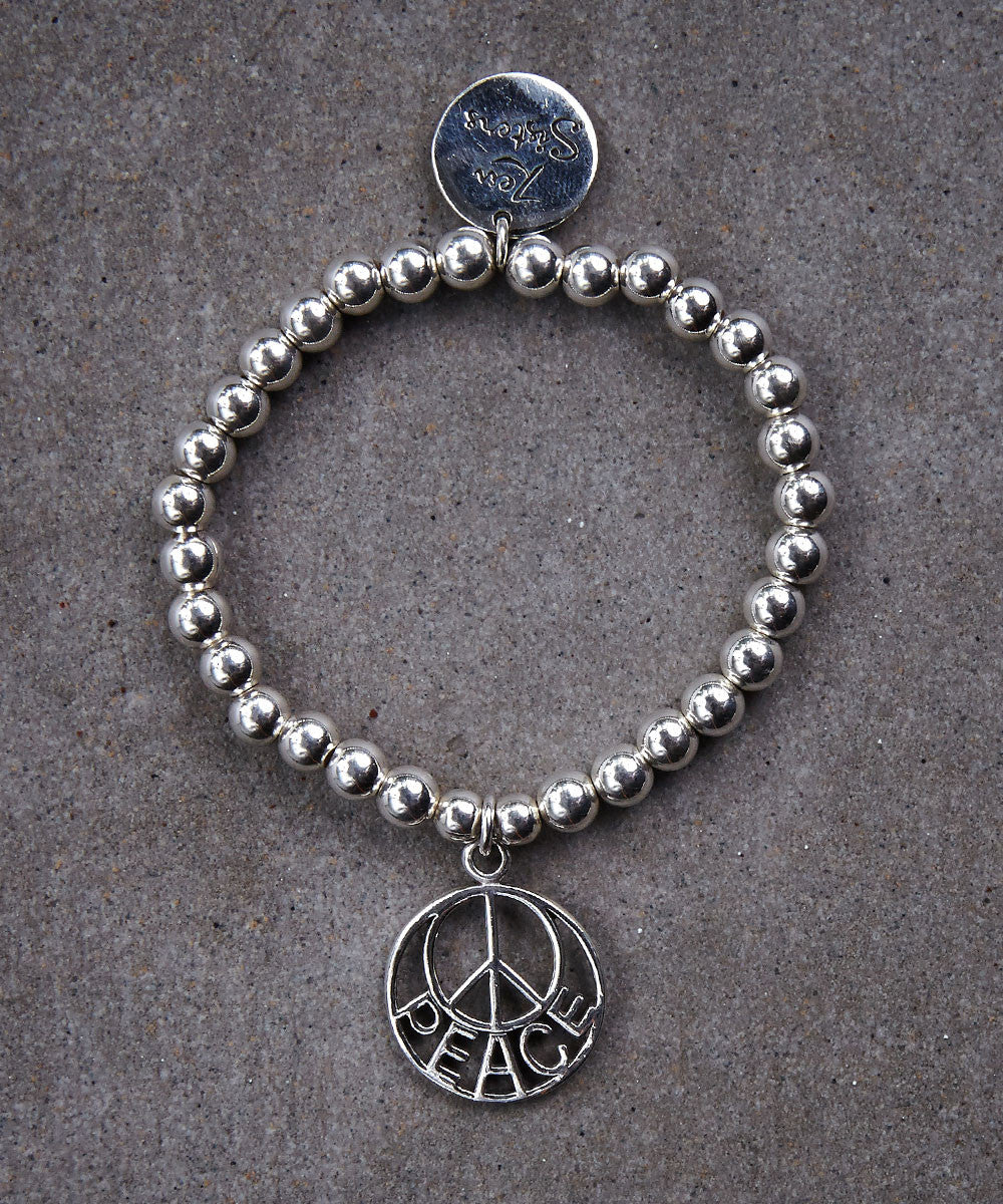 Peace is the Word Bracelet - Zen Sisters