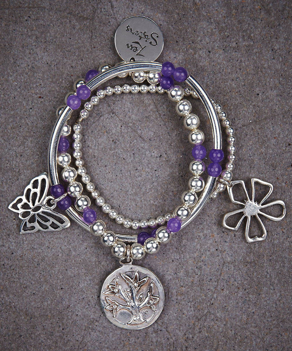 Little Sisters Nature Trio of Bracelets - Zen Sisters