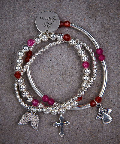Little Sisters Faith Trio of Bracelets - Zen Sisters