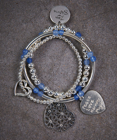 Little Sisters Heart Trio of Bracelets - Zen Sisters