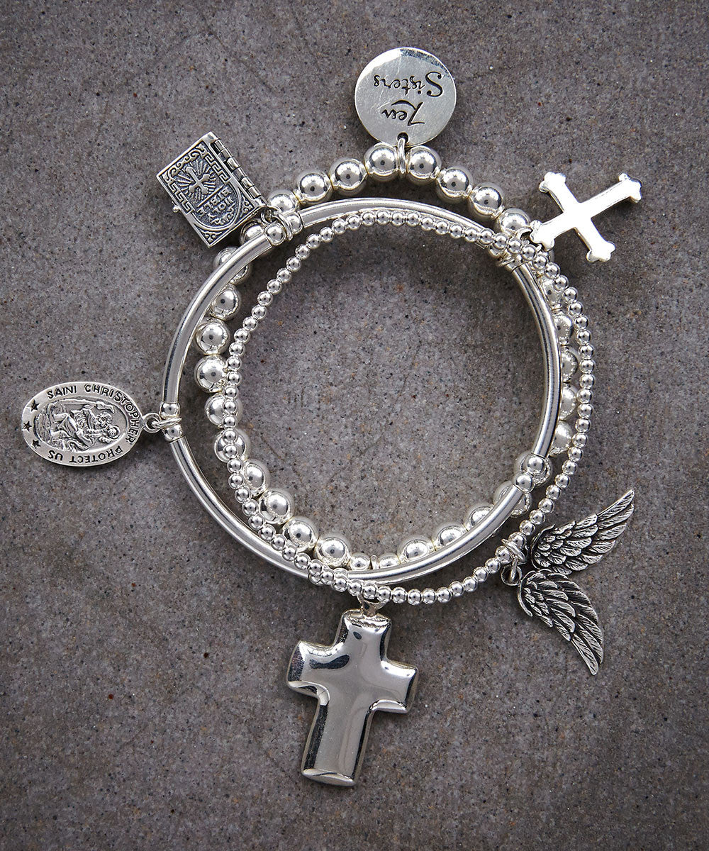 Faith I Trio of Bracelets - Zen Sisters