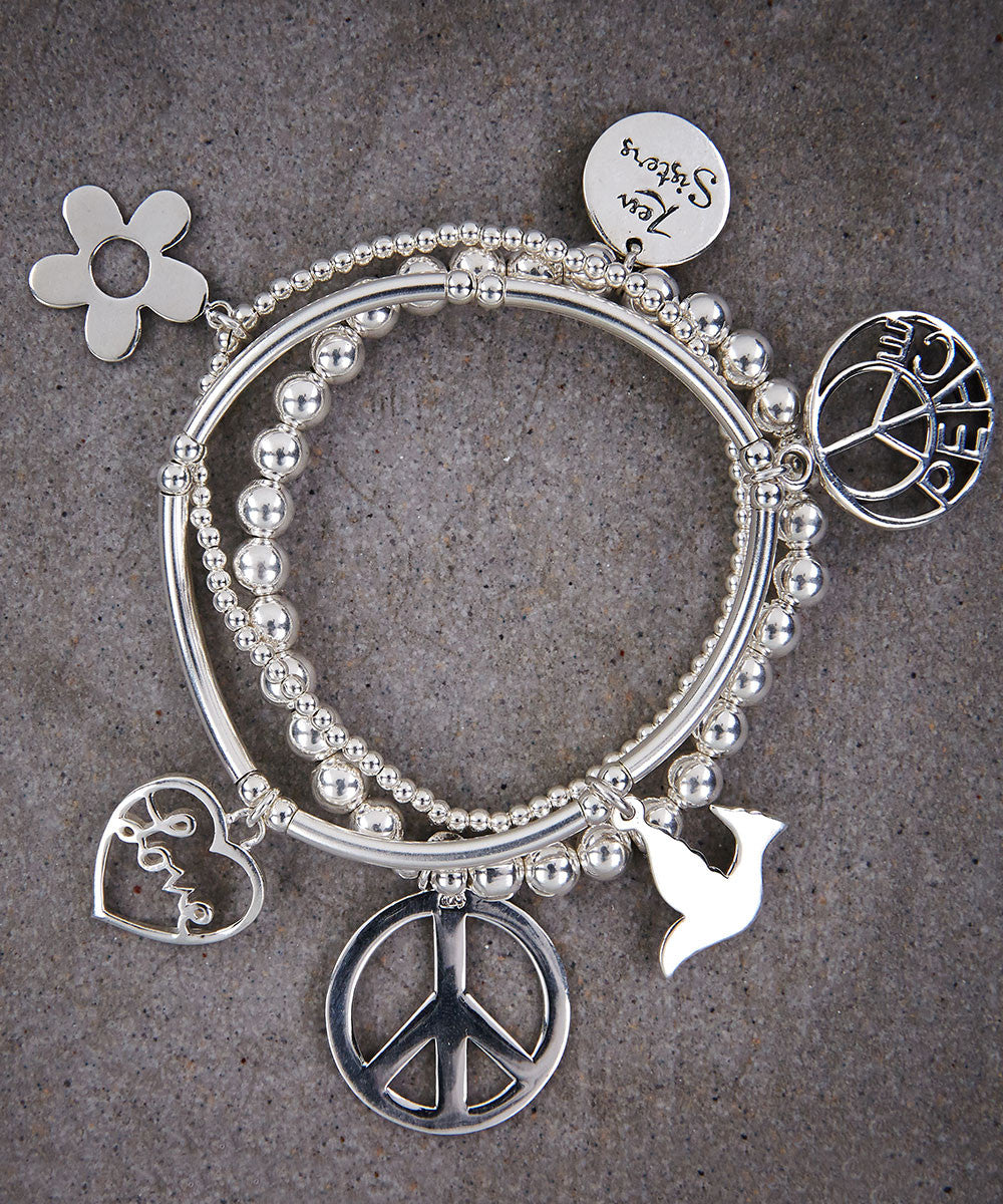 Peace Trio of Bracelets - Zen Sisters