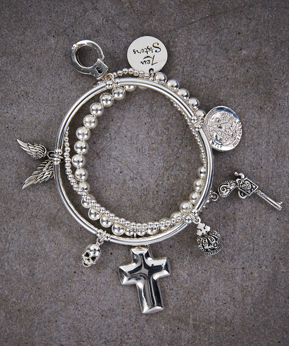 Saints and Sinners Trio of Bracelets - Zen Sisters