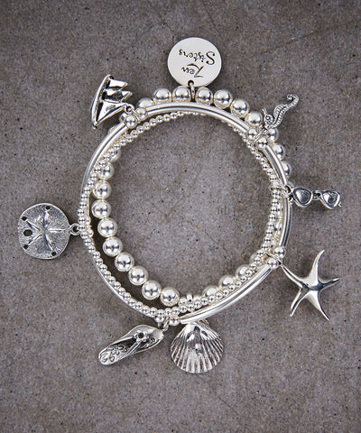 Beach Trio of Bracelets - Zen Sisters