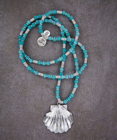 Amazonite Shell Necklace