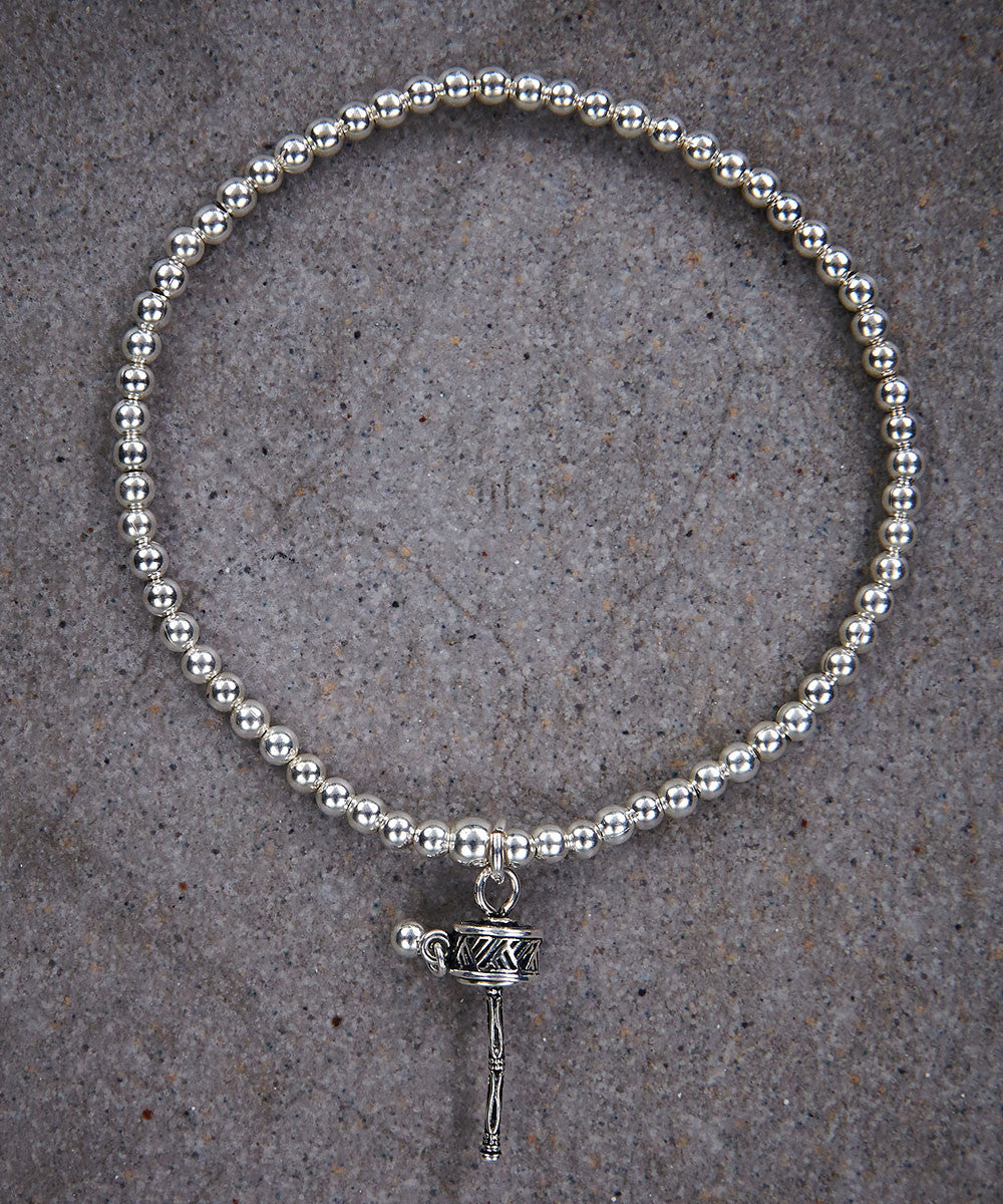 Prayer Wheel Skinny Bracelet - Zen Sisters