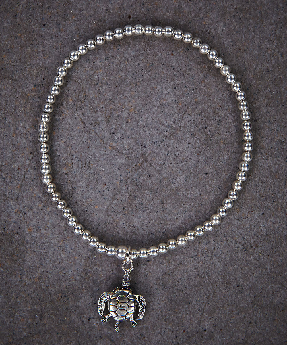 Moving Turtle Skinny Bracelet - Zen Sisters
