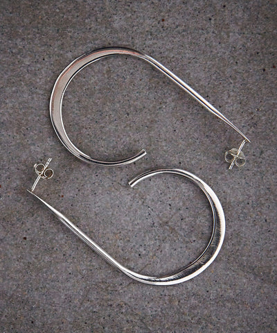 Modern Hoop Earrings - Zen Sisters - 2