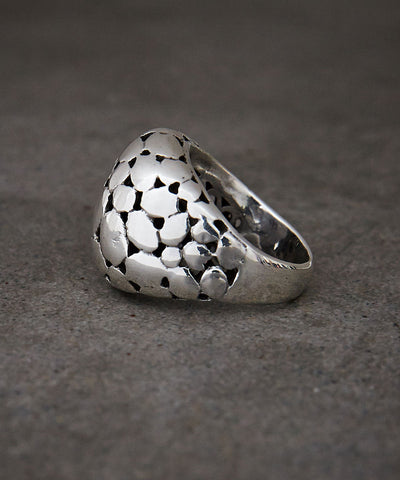 Domed Pebble Ring - Zen Sisters - 1