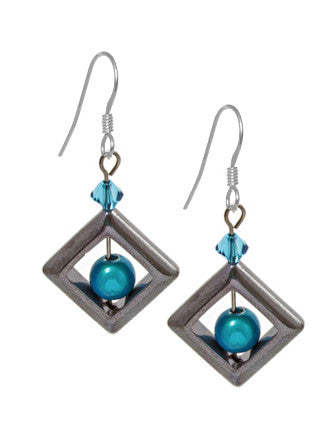 Square Hematite Earrings