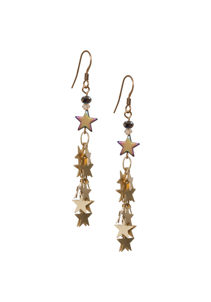 Hematite Star Drop Earrings