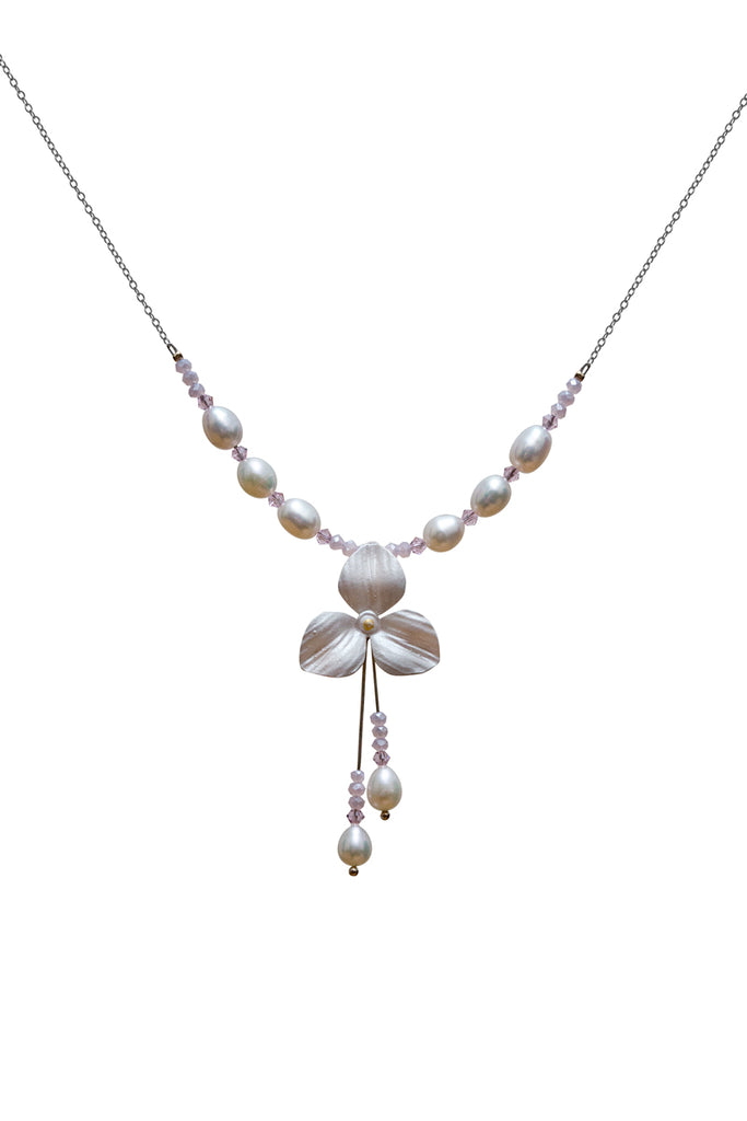 Flower Drop Necklace