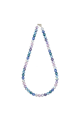 Multy Colour Crystal Necklace 8mm Beads