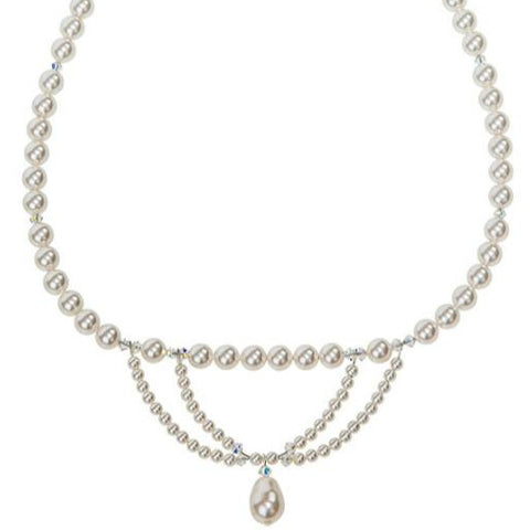 Abbey. Vintage Style  Swarovski Pearl and Crystal Necklace.