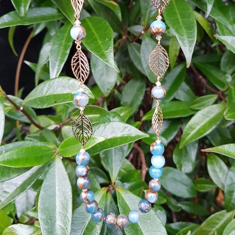 Leaves and Stones Necklace