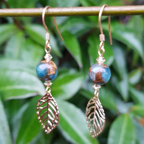 Leaves and Stones Earrings