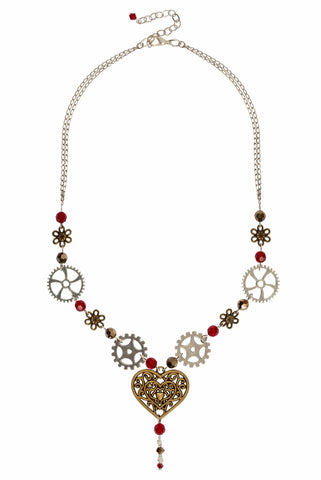 Queen of Hearts Steampunk Necklace
