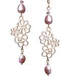 Edwardian Lace 2 Freshwater Pearl Earrings