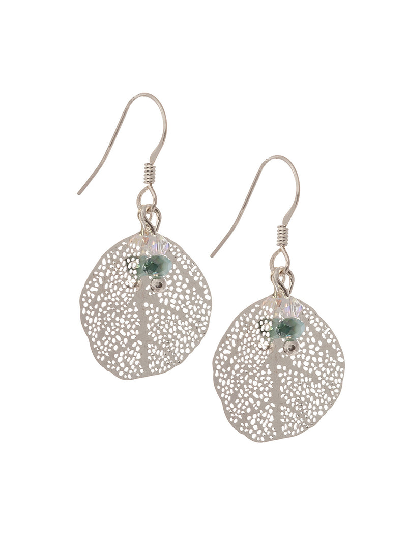 Round Leaf Earrings