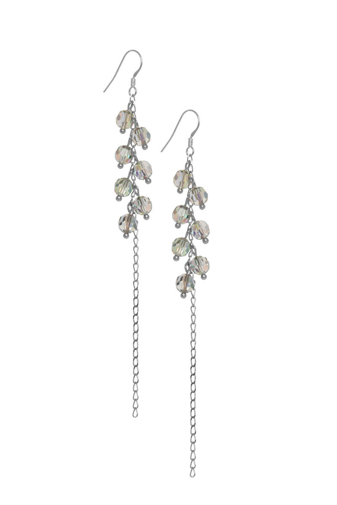 Long Paradise shine Crystal Drops Earrings