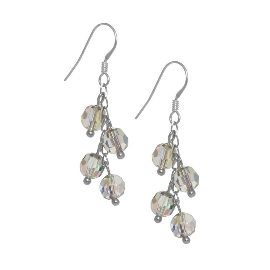 4 Drop Crystal Bead Earrings