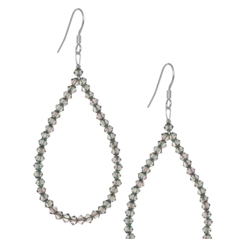 3mm Swarovski Crystal Loop Earrings