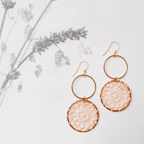 Dreams Earrings, Blush.