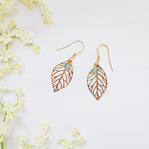 Cherry Leaf Large Earrings